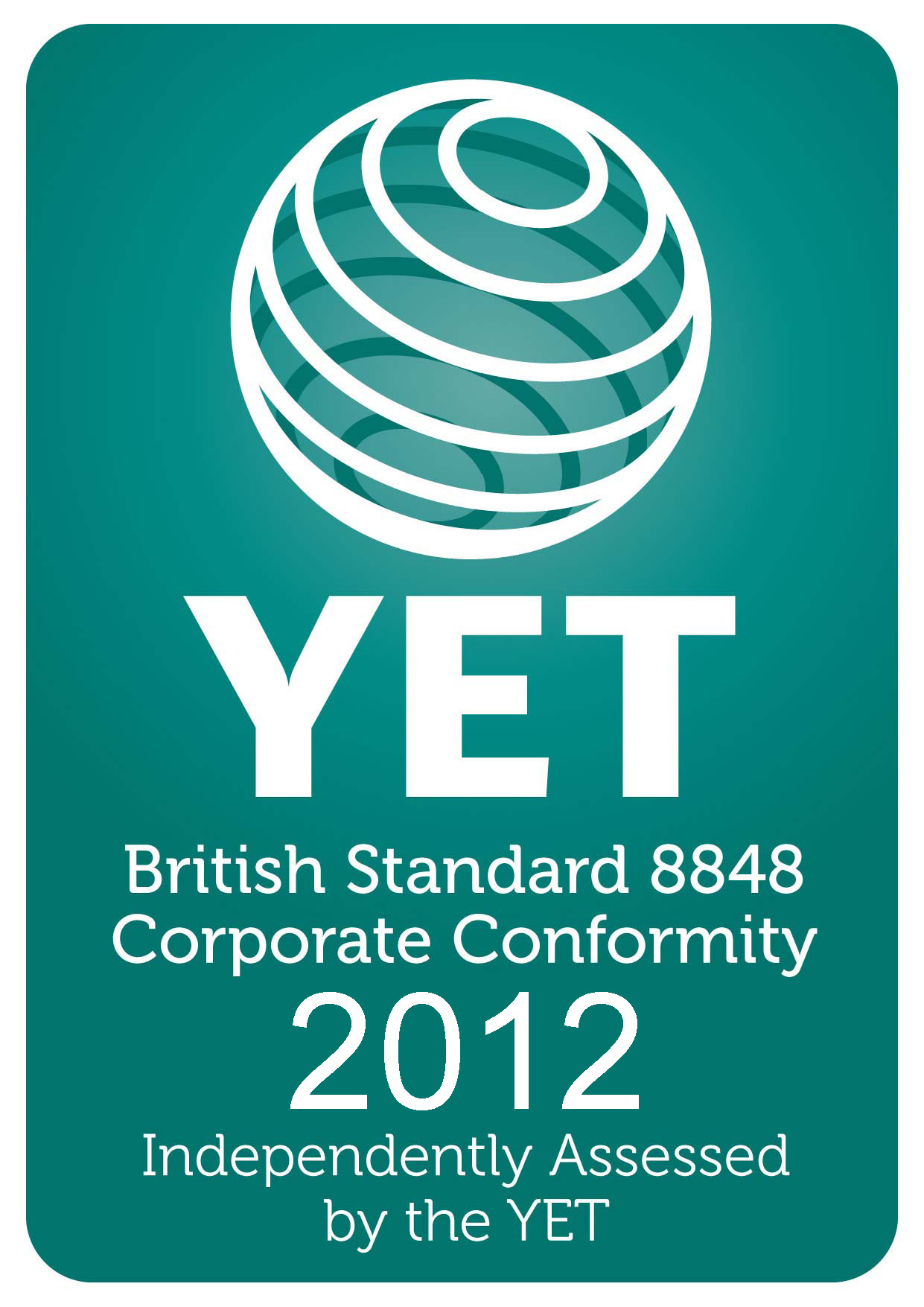 YET BS8848 compliance logo